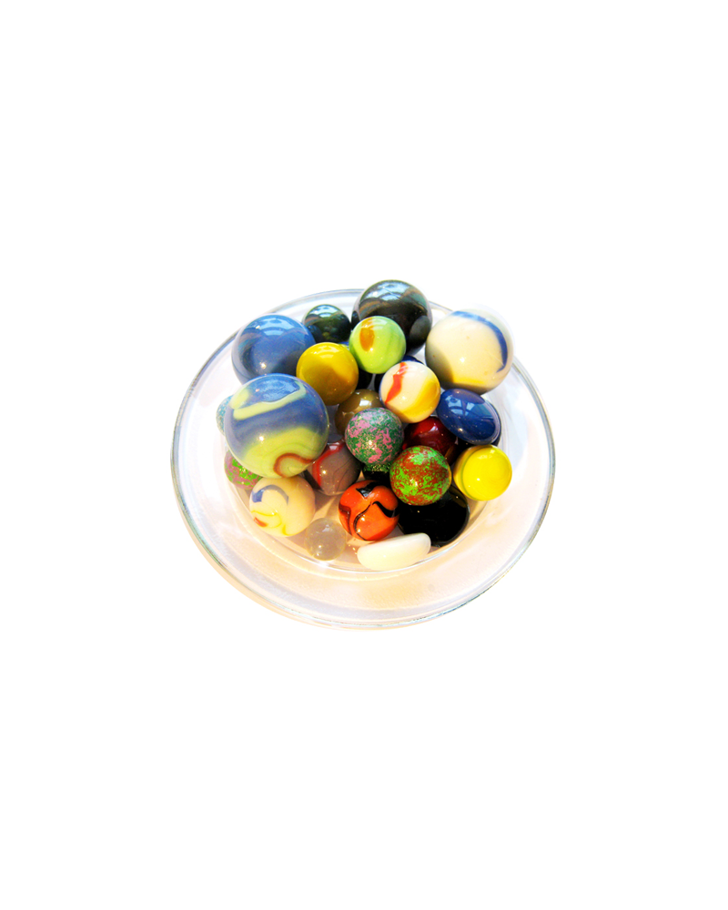 1 Large Marble Froissé 43 mm Glass Marbles