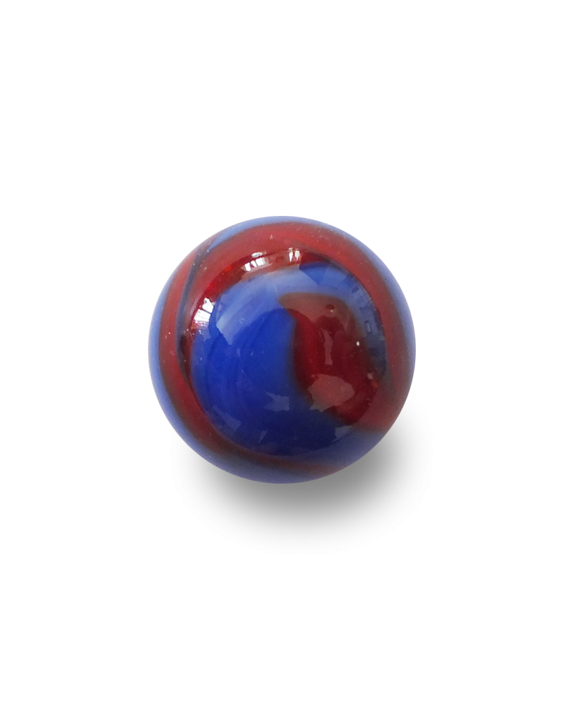 1 Marble Perle Rouge Shiny 16 mm Glass Marbles