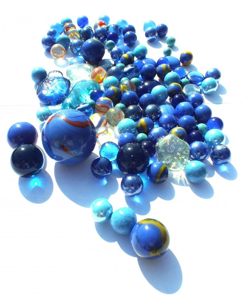 1 Shooter Marble Perle Blanche Shiny 25 mm Glass Marbles
