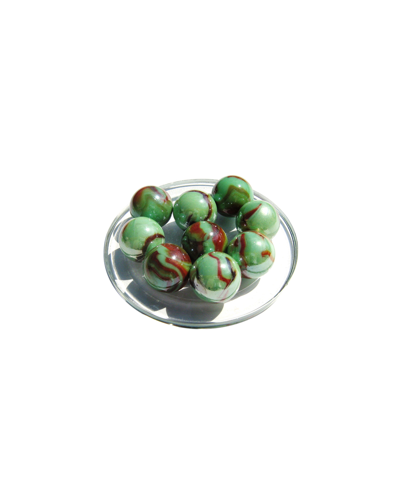 1 Calot Bille en verre Green Turtle 25 mm Billes en Verre
