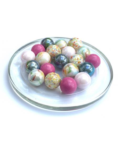 1 Marble Sanguine 25 mm Glass Marbles