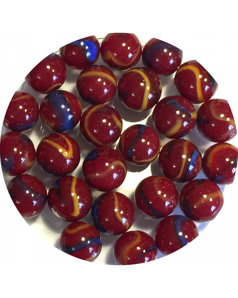 1 marble Plate Loupe bleu 16 mm Glass Marbles