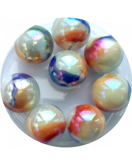 1 Very Big Marble Multi-Chiffonnade 35 mm Glass Marbles